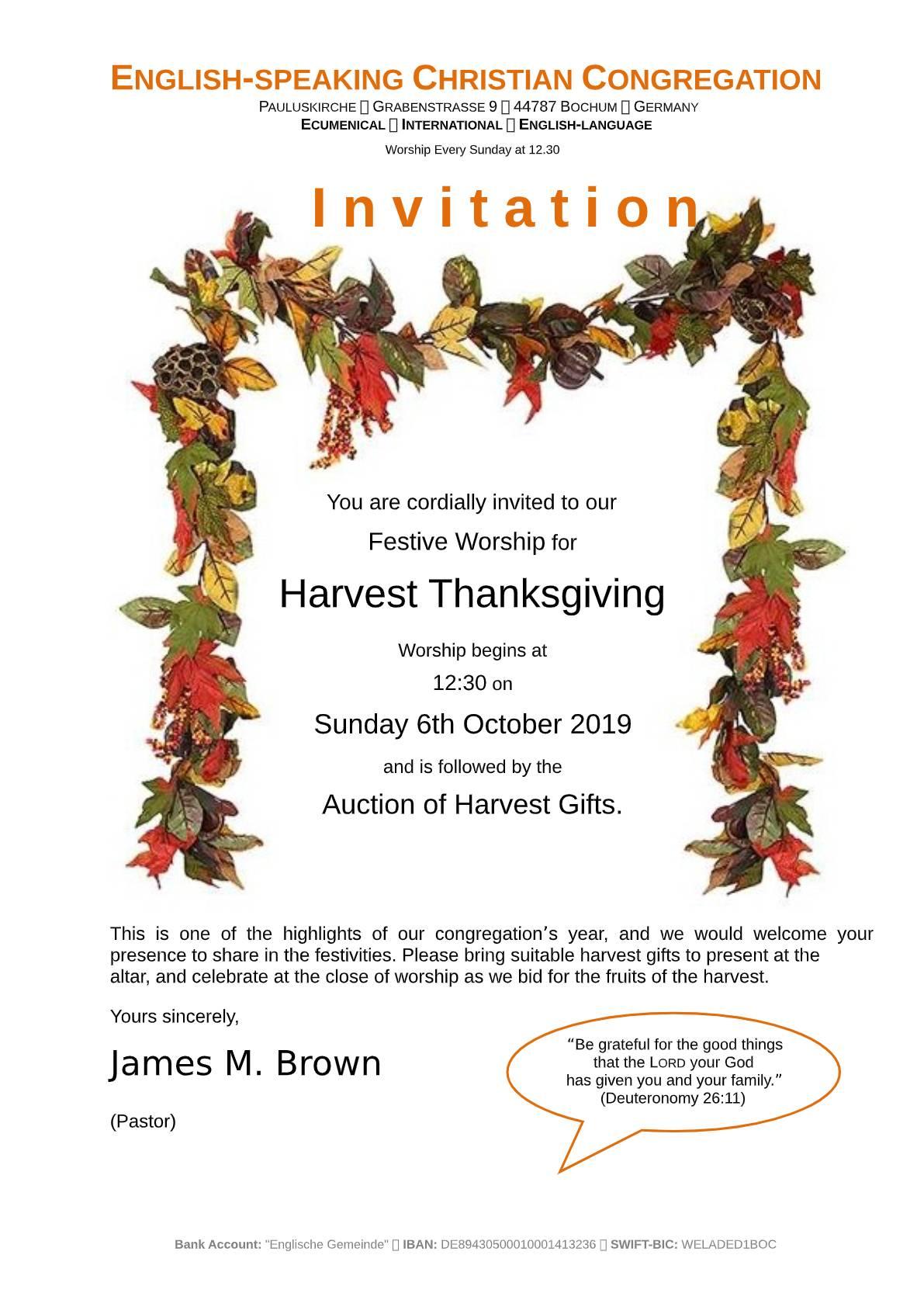 2019-10-06 - Harvest Thanks  invitation poster-pdf