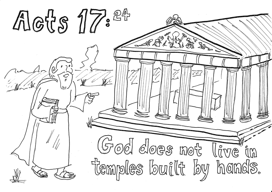 Acts 17,24 colouring page